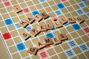 scrabble spelling game