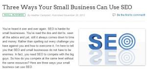 Sacramento Search Engine Optimization Helps Small Companies Compete -