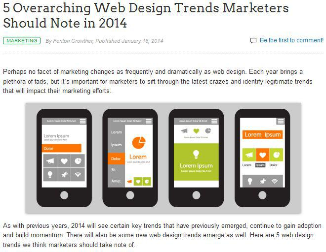 5 overarching web design trends marketers should note in 2014