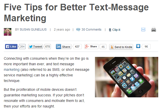 five tips for better text-message marketing