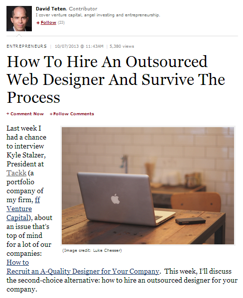 how to hire an outsourced web designer and survive the process