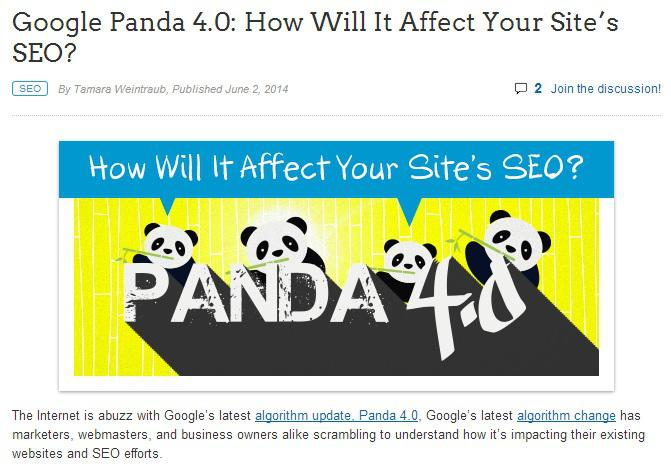 Folsom SEO Company: How Will the Panda 4.0 Update Affect Your SEO?