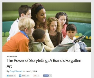Successful Sacramento Online Marketing Requires Good Storytelling