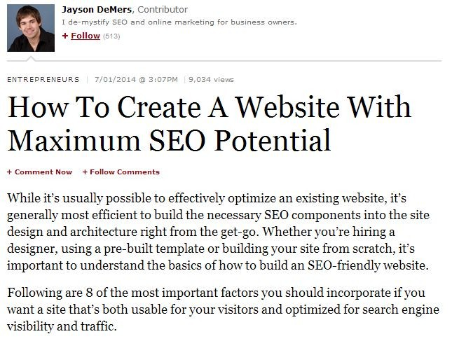 how to create a website with maximum seo potential